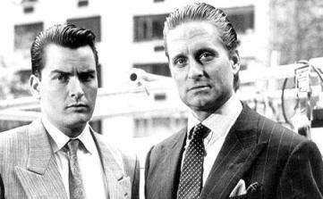 Martin Sheen i Michael Douglas - zdjęcie z filmu Wall Street