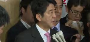 Shinzo Abe, przywódca Partii Liberalnych Demokratów, przyszły premier Japonii