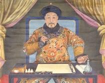 Cesarz Qianlong uprawiający kaligrafię