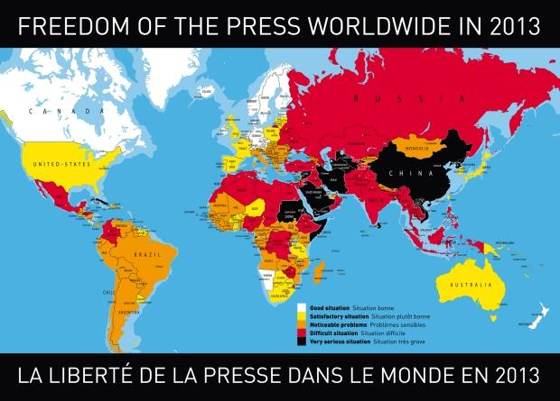 Mapa Wolności Prasy 2013